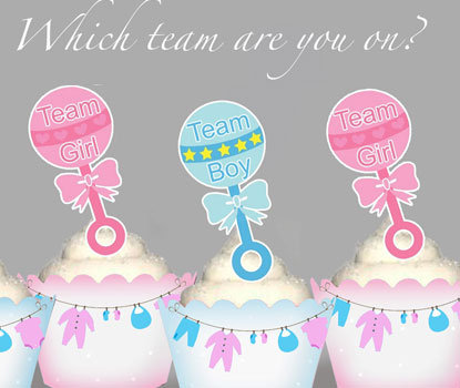 Team Baby Rattle Toppers