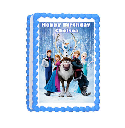 Frozen Party Icing Sheet