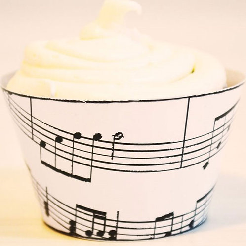 Music note 50s Cupcake Wraps