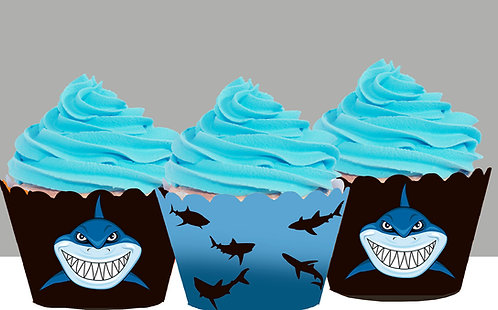 Shark Cupcake Wrappers