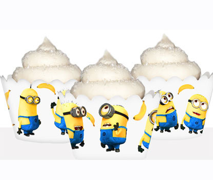 Despicable Me Minons with Bananas Cupcake Wrappers