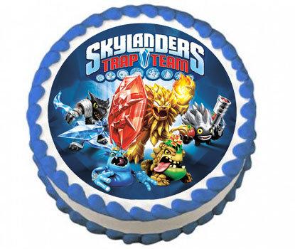 Skylanders Round Icing Sheet
