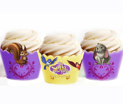 Sofia the First Cupcake Wrappers