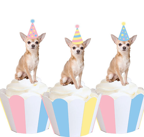 Chihuahua Party Toppers