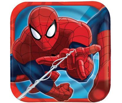 Spiderman Superhero Lunch Plates