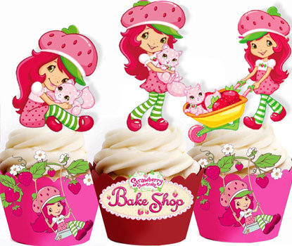 Strawberry Shortcake Toppers
