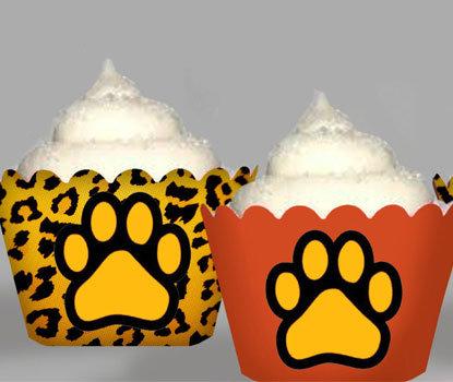 Leopard Safari Cupcake Wrappers