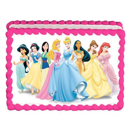 A4 Disney Princess Party Icing Sheet
