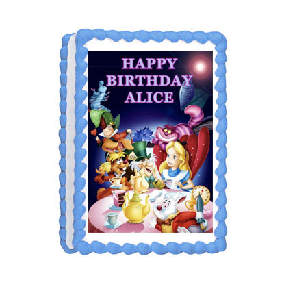 Alice In Wonderland Icing Sheet