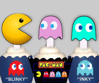 Retro Pacman Toppers
