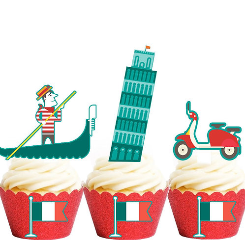 Italy Icons Party Toppers