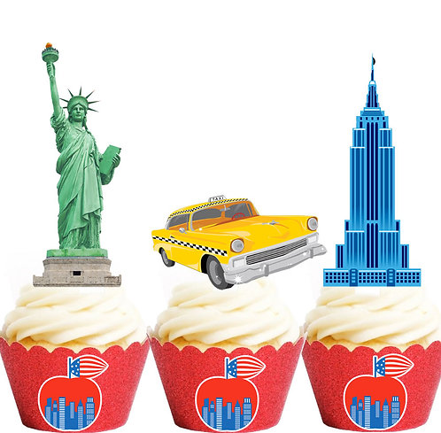 New York Icons Party Toppers