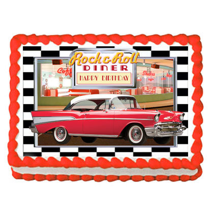 50s Diner Chevy Icing Sheet