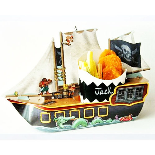 Pirate Ship Party Loot Bag - Food Carton