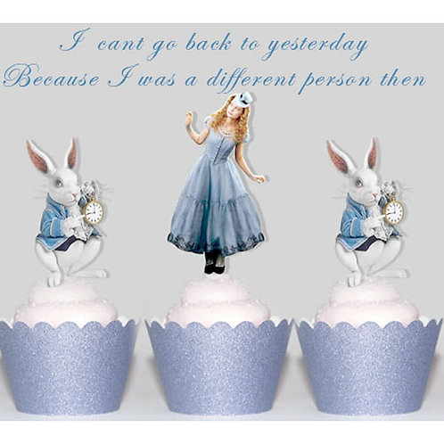 Alice in Wonderland toppers