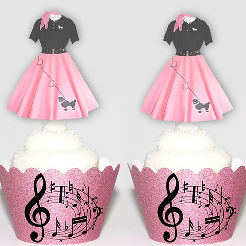 Pink Poodle Skirt Toppers