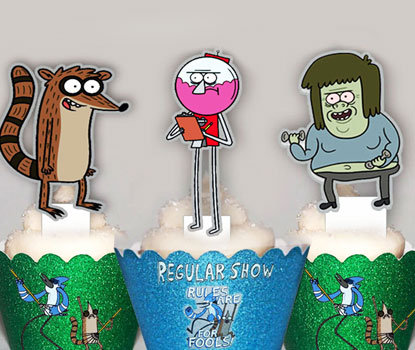 The Regular Show Toppers