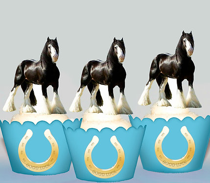 Clydesdale Horse Edible Toppers