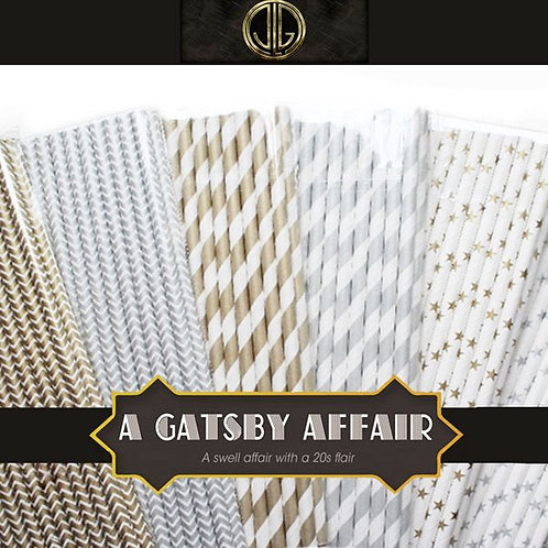 Art Deco Gatsby Straws