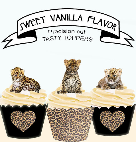 Leopard Cubs Edible Toppers