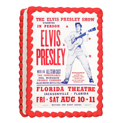 Elvis Party Icing Sheet