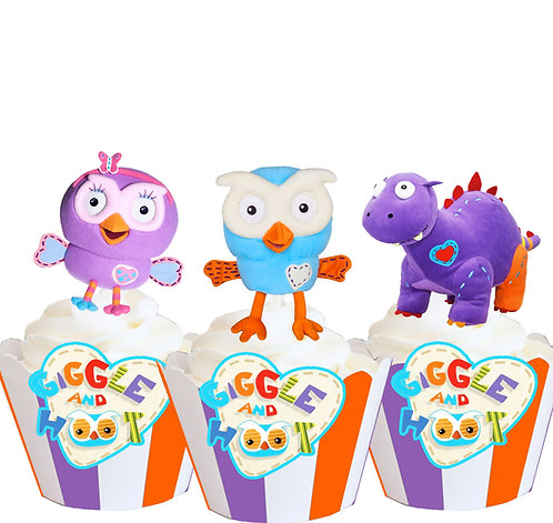 Giggle and Hoot Party Toppers