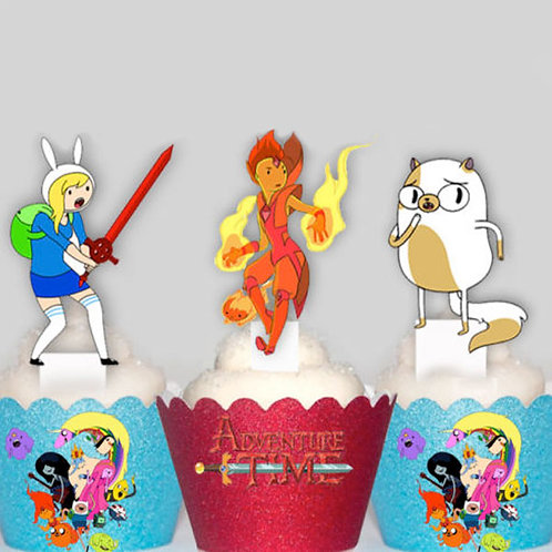 Adventure Time Fiona and Cake Toppers