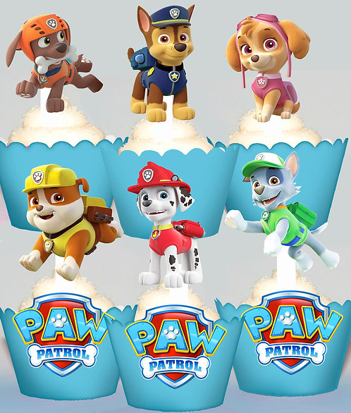 Paw Patrol Party Toppers