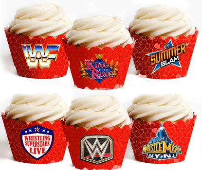 Wrestle Mania Cupcake Wrappers