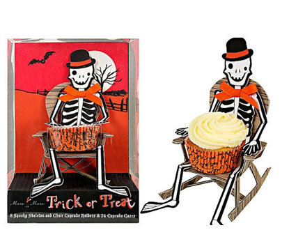 Halloween Skeleton Cupcake Holders - Pk 8