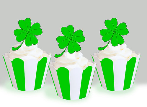 Lucky Four Leaf Clover Toppers