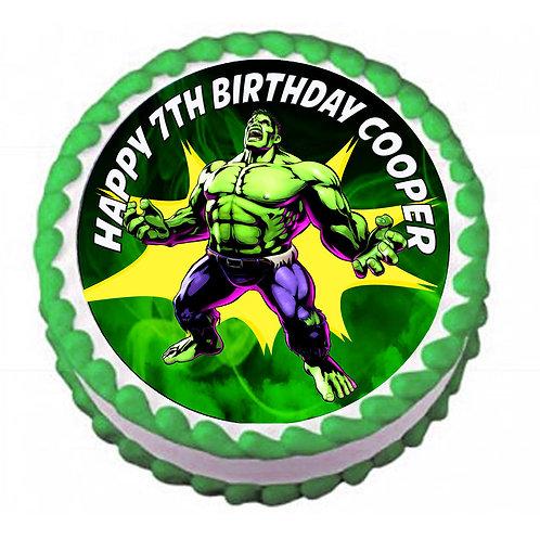 Hulk Superhero Round Icing Sheet