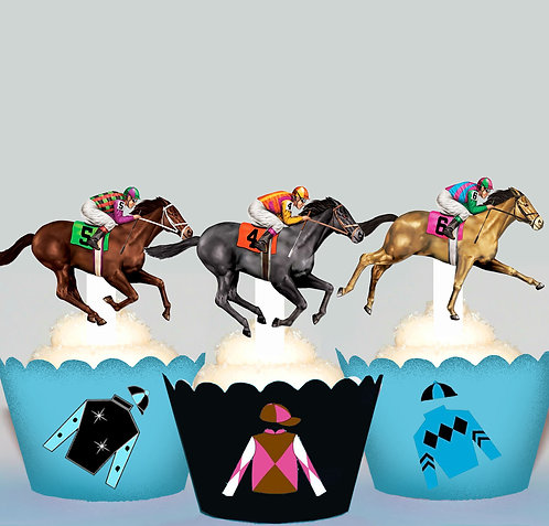 Race Day Horse Edible Toppers