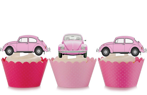 Pink VW Beetle Toppers