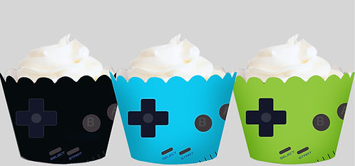 Gameboy Cupcake Wrappers