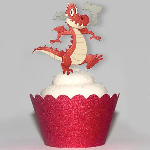 Smouldering Dragon Party Toppers