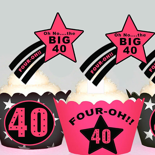 Womens 40th Birthday Toppers