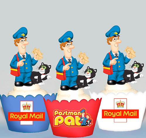 Postman Pat Party Toppers