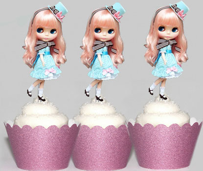 Blythe Doll Party Toppers