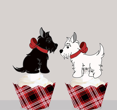 Scotty Dogs Party Toppers