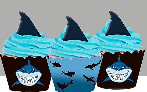 Shark Finn Party Toppers