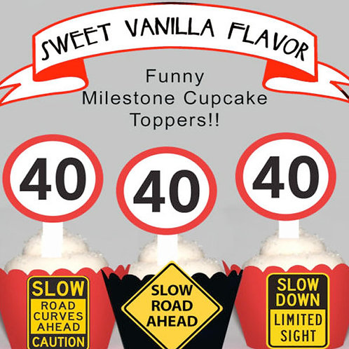 40th Birthday Toppers