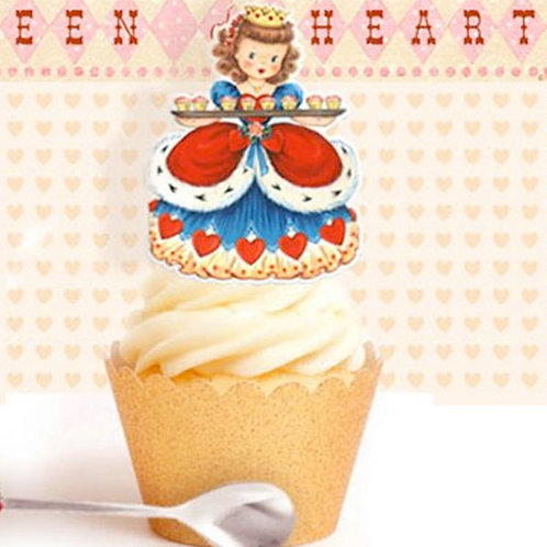 Vintage Queen of Hearts Toppers