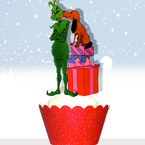 Grinch Xmas Toppers