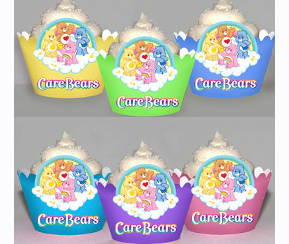 Care Bear Cupcake Wraps