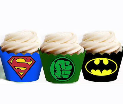 Superhero 3 Party Wraps