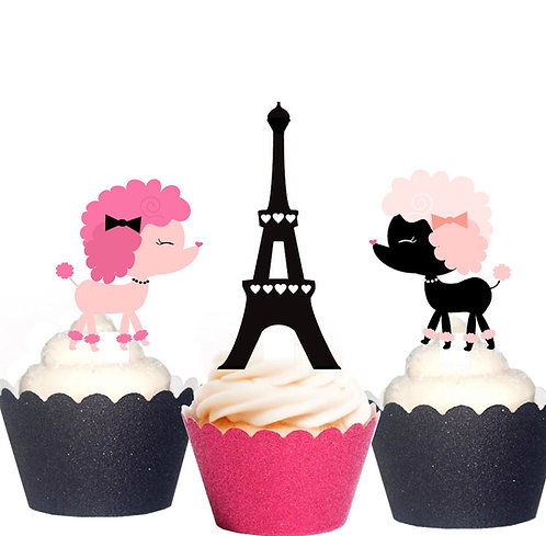 Paris French Party Toppers