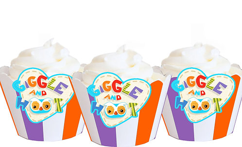 Giggle and Hoot Cupcake Wrappers