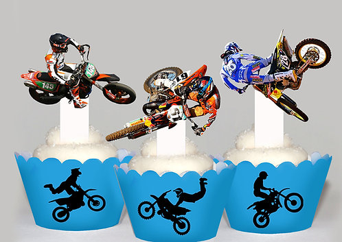 Motorcross Party Toppers