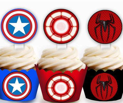 Superhero Discs Toppers